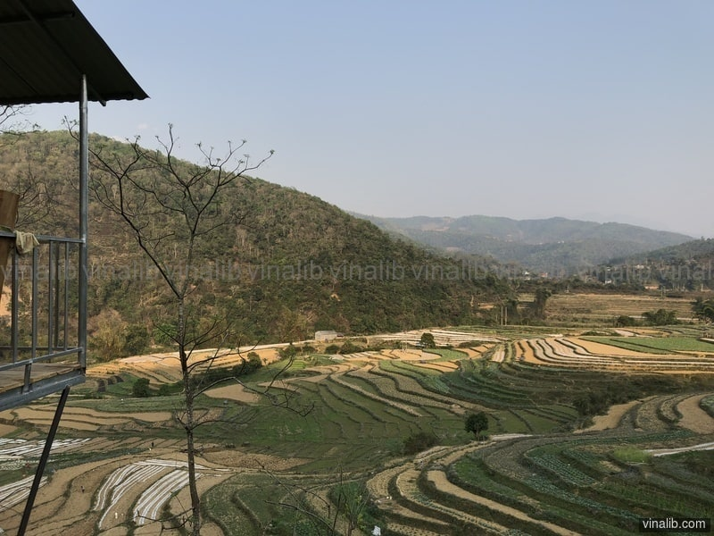 A house with a view, Bao Lac district - Vinalib Stock Pictures